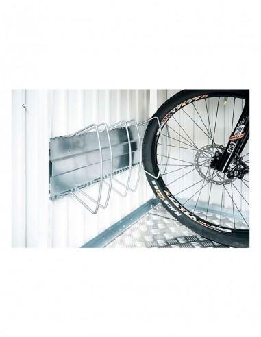 Range vélo pour abri métallique