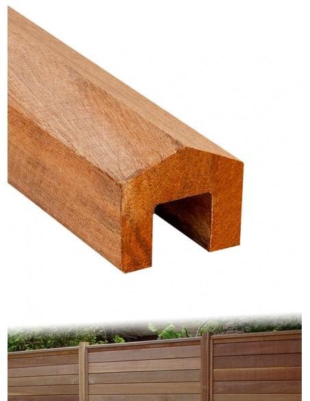 Chapeau de finition en bois exotique