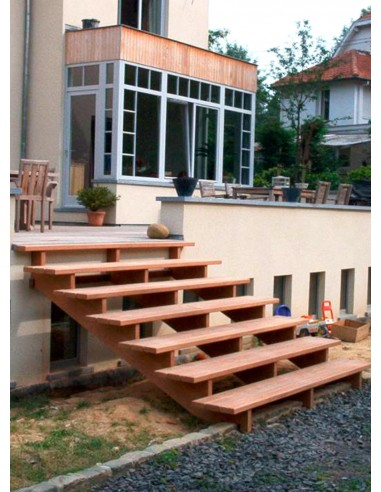 Escalier de jardin en bois