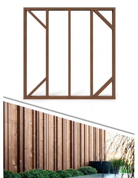 Cadre pour palissade en bois