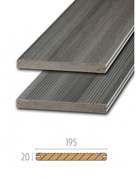 Terras composiet hout grey Platinum