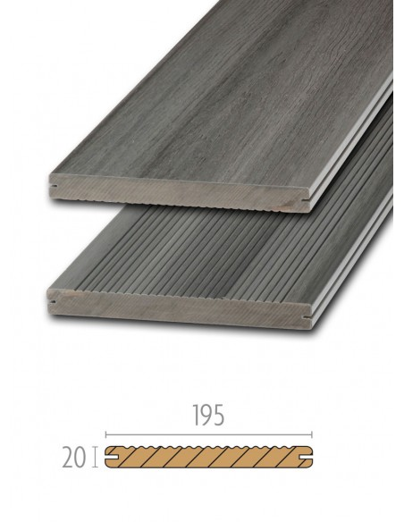 Terrasse en bois composite Platinum gris