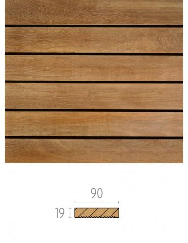 Smalle plank Bangkirai-terras