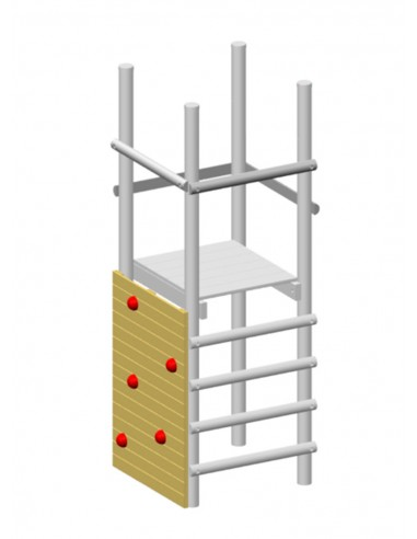 Mur d'escalade pour balançoire