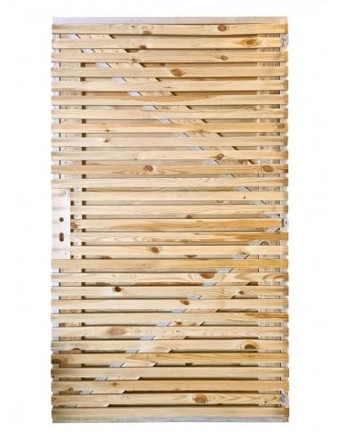 Porte de jardin en bois abri