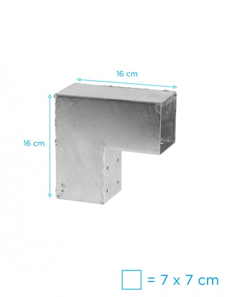 Hoekverbinders voor vierkante palen