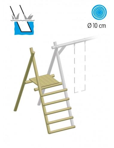 Escalier et plate-forme pour balançoire