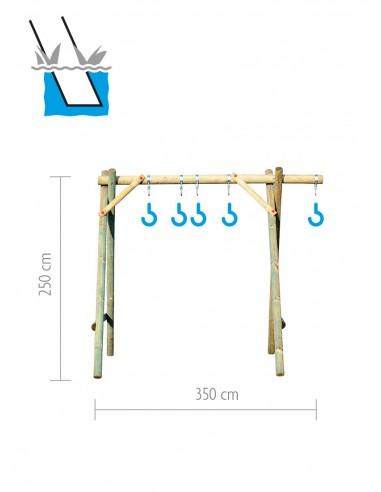 Balançoire en bois à bétonner