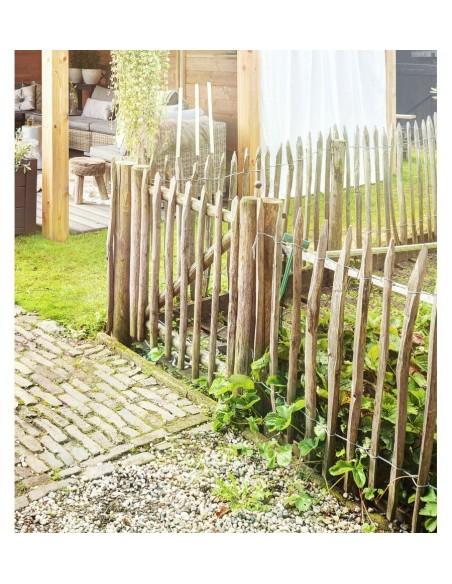 Clôture de jardin en châtaignier