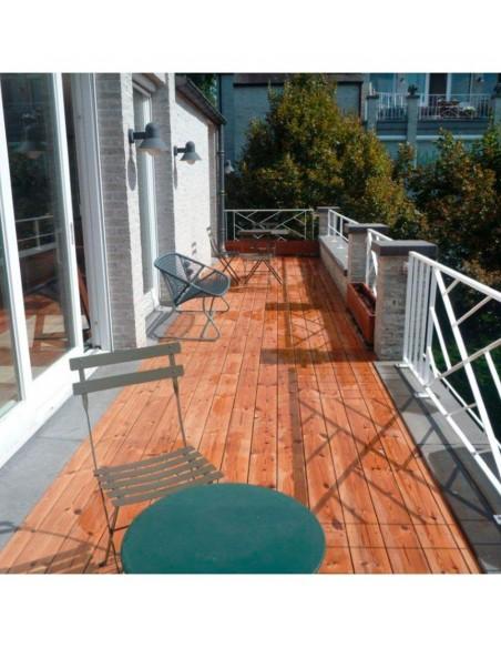 Terrasse en Thermowood Pin