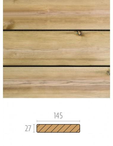 Behandeld grenen hout