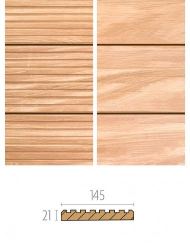 Terrasse en bois exotique strié - lisse