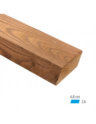 Schuin thermowood plank