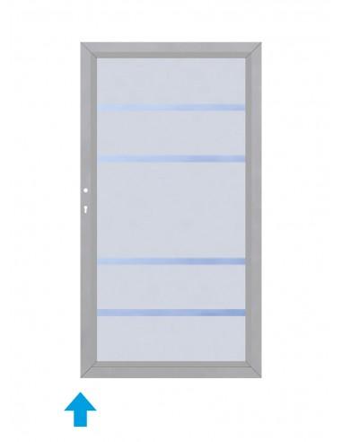 Glas enkele poort