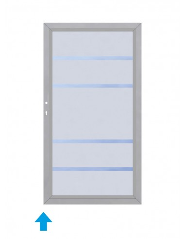 Porte de terrasse en verre sécurit