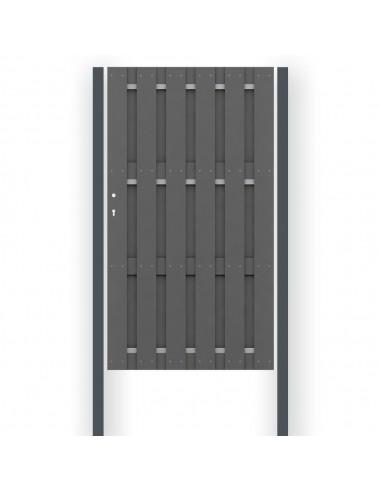 Metaal-enkelpoortpalen voor WPC & Alu