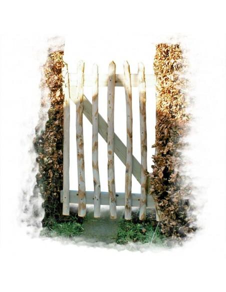 Portillon de jardin en châtaignier