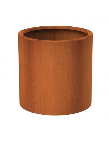 Bac à fleurs en acier Corten Ritz Cylindrical