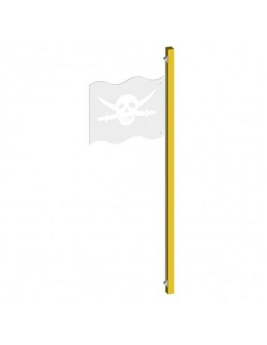 Mât pour drapeau sur balançoire