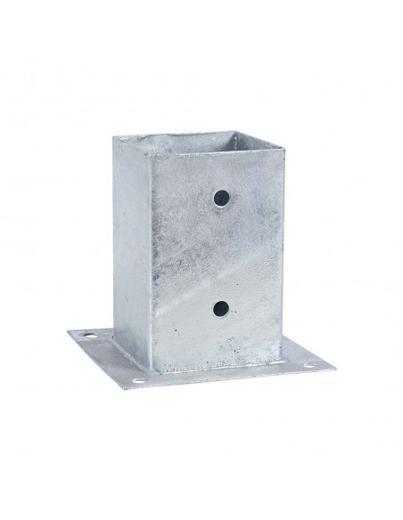 Vierkant paalhouder met plaat