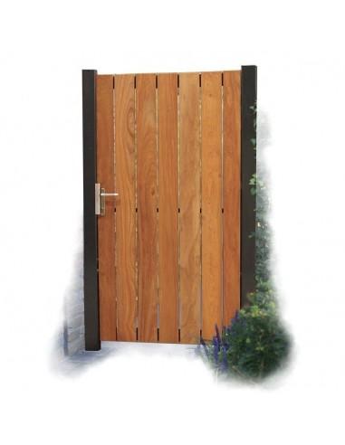Porte de jardin en bois exotique