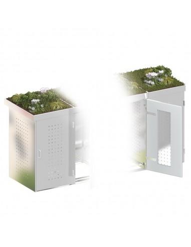 Bac à plantes pour cache poubelle