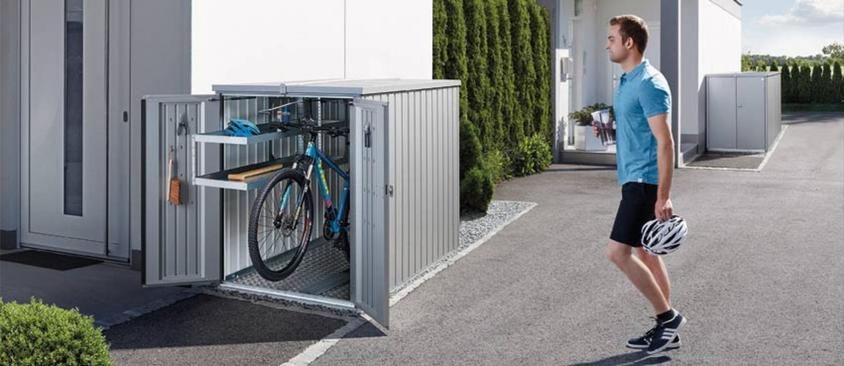 box de vélo sur parking