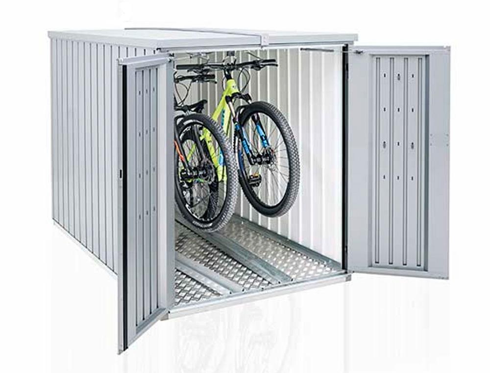 Mini garage pour deux vélos