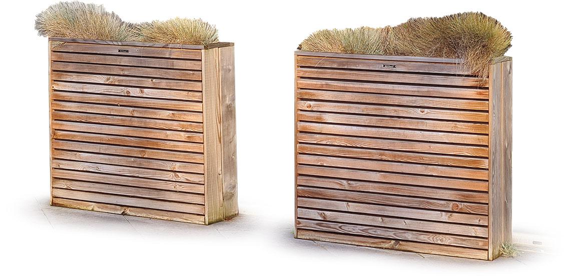 bac à fleurs en bois design