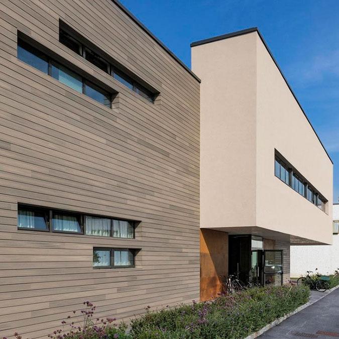 Bardage de façade en bois composite