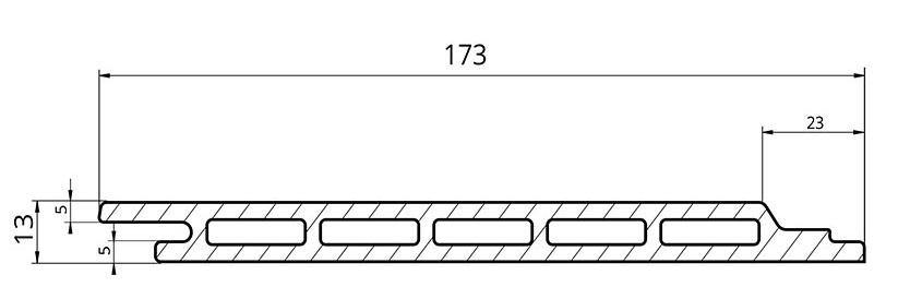 dimensions profil bardage composite triple