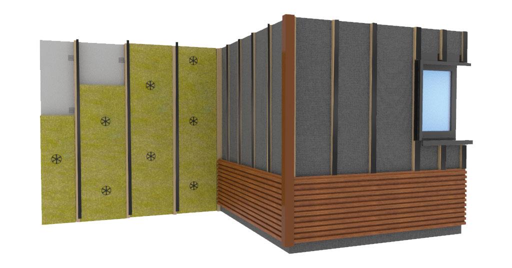 Isolation d'une façade avec un bardage composite
