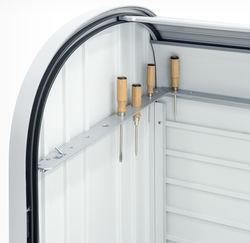 Poignée de porte en inox sécurisée