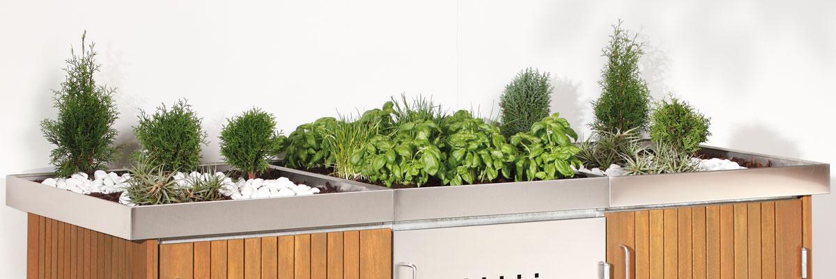 bac plantes pour cache poubelle