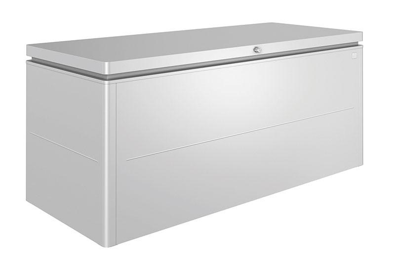 Coffre en aluminium de couleur argent