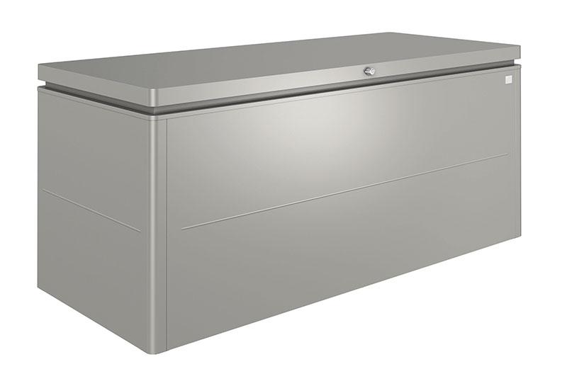 coffre en métal de couleur gris quartz