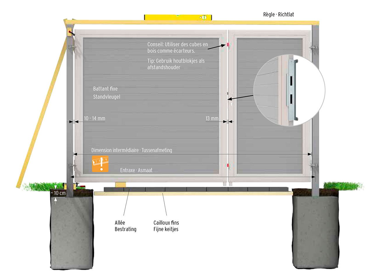 plan portail bois composite