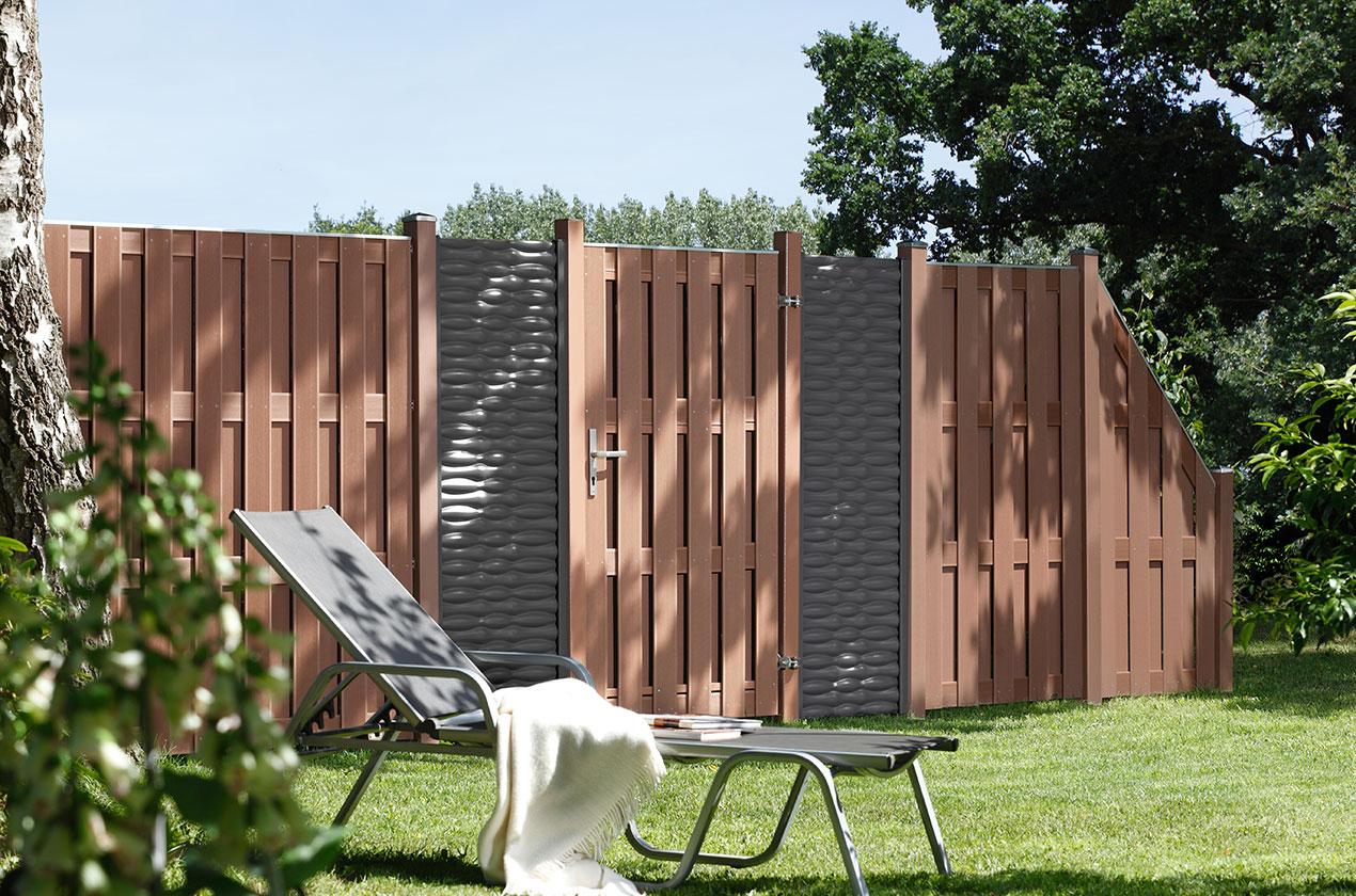 porte simple bois composite