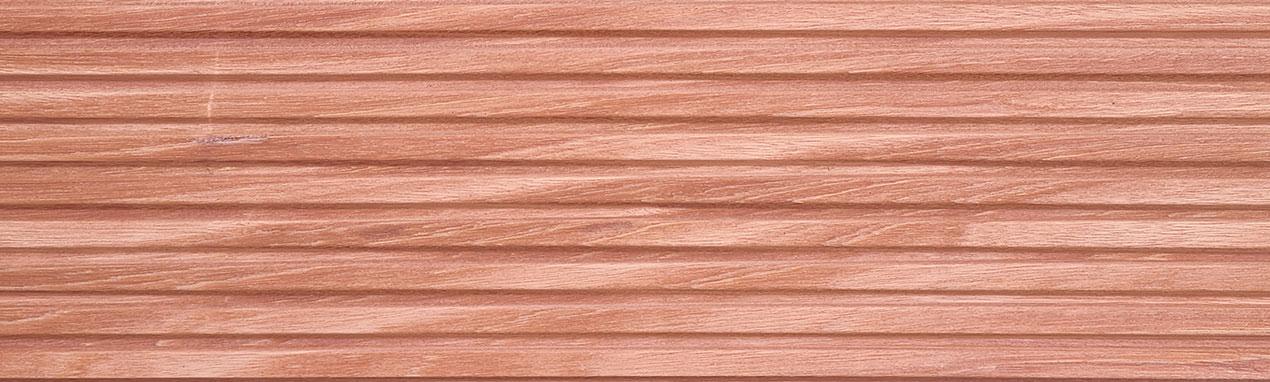 lame de errasse en bois exotique Tali rainurée