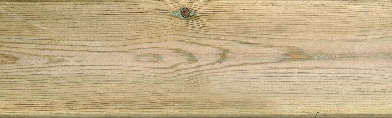 Lame ou planche de terrasse en sapin imprégné lisse