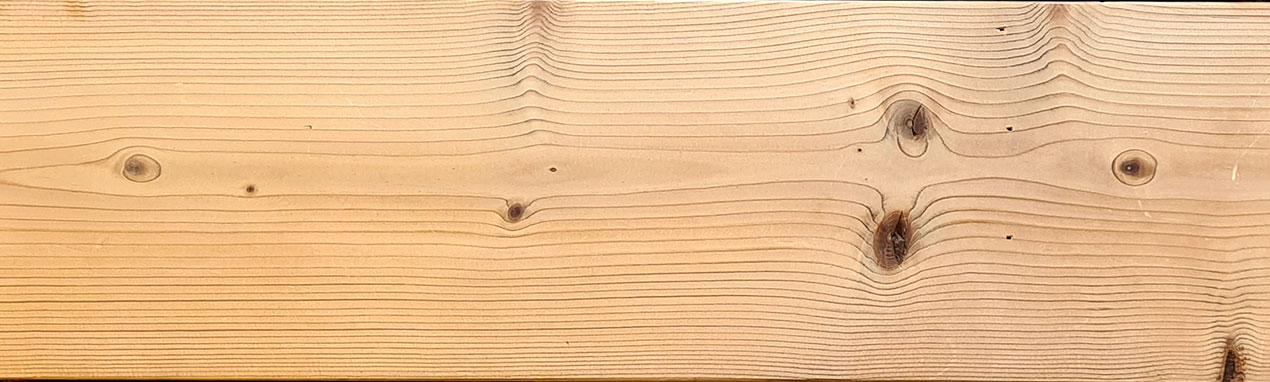 lame de terrasse en pin thermowood lisse