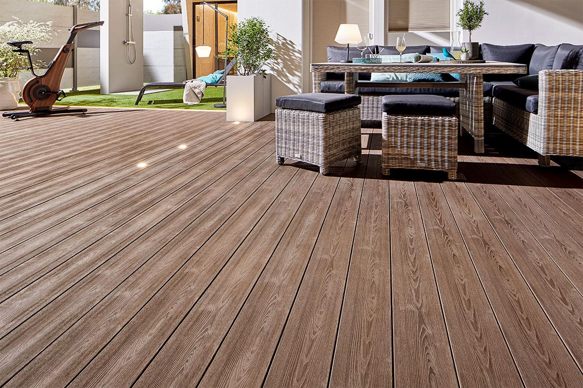 parquet en bois composite WPC bois