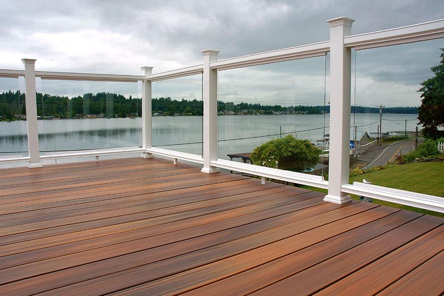 plancher extérieur en bois composite