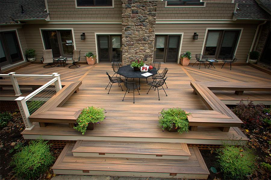 terrasse en bois composite imitation ipé