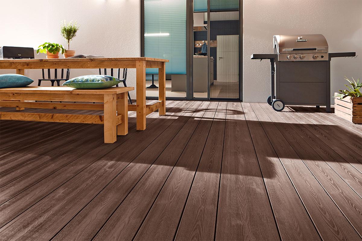 terrasse en bois composite WPC bois