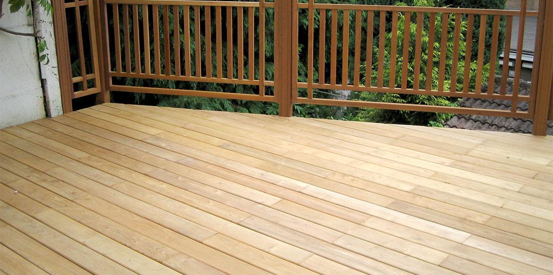 terrasse en bois de robinier