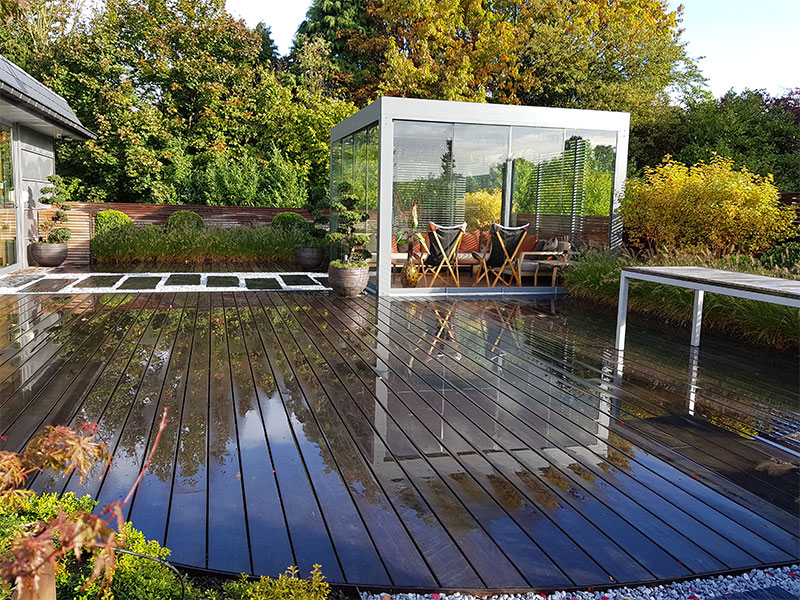 terrasse en Ipé mouillée
