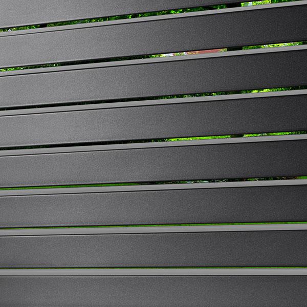 lame oblique en aluminium anthracite