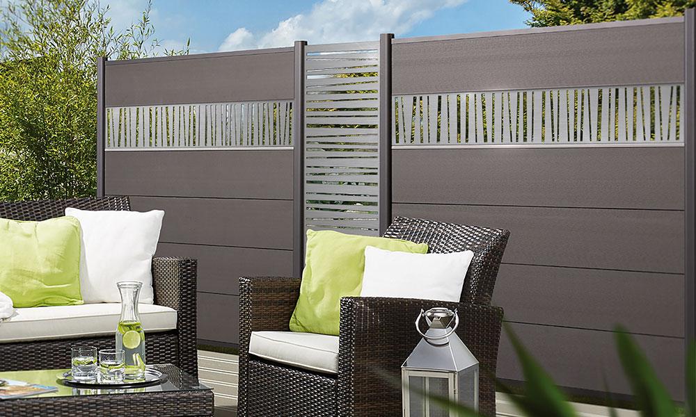 Plank en decoratief paneel voor XL composiet palissade