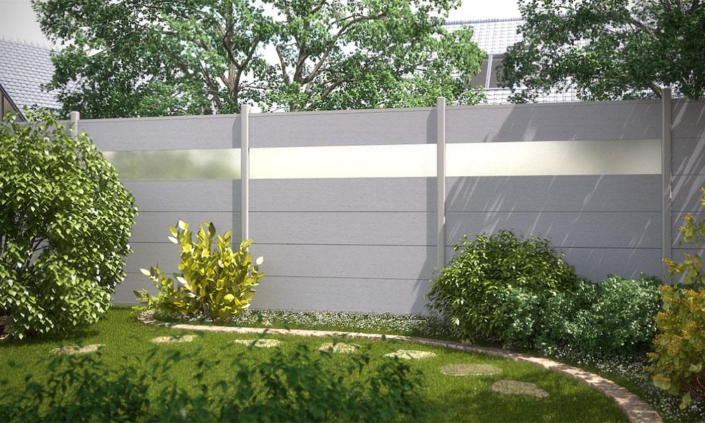Lame translucide pour panneau de jardin en composite